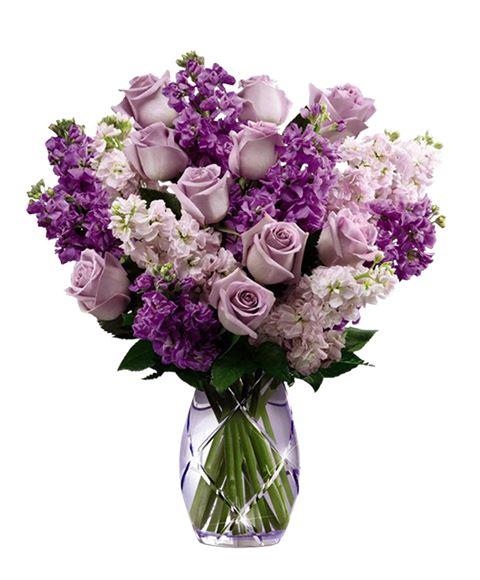 Mazzo Di Fiori Viola.Bouquet Glicine Di Fiori Viola Bianchi E Lilla Con Rose Lilla